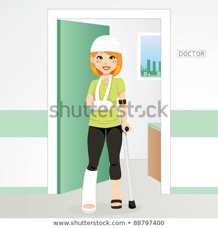 Woman with injured head vector illustration. Stock photo © RAStudio