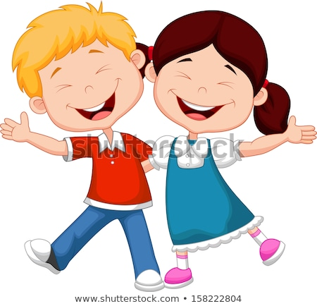 Boy and girl laughing Stock photo © IS2
