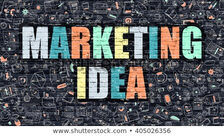 Marketing Idea Concept. Multicolor on Dark Brickwall. Stock photo © tashatuvango