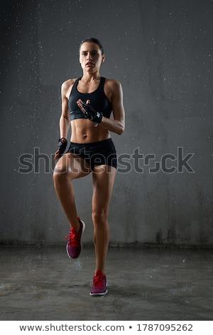 ritratto · concentrato · giovani · fitness · donna · posa - foto d'archivio © deandrobot