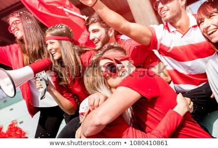 Spor fan Rusya kalp bayrak ülke Stok fotoğraf © rogistok