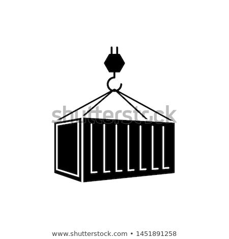 konteyner · gemisi · yalıtılmış · ikon · stil · dünya · çapında · teslim - stok fotoğraf © studioworkstock