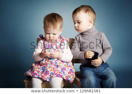 bebek · telefon · kız · çocuklar · çocuklar · çocuk - stok fotoğraf © is2