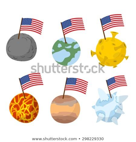 Bolygók naprendszer zászló Amerika új űr Stock fotó © popaukropa