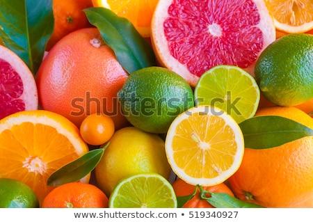 Stok fotoğraf: Narenciye · yaprak · meyve · arka · plan · limon · taze