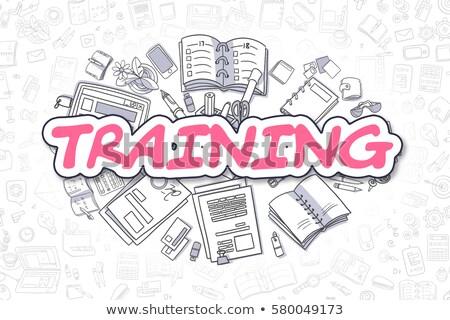 Conferenza doodle magenta parola business illustrazione Foto d'archivio © tashatuvango