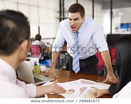 boss yells at subordinates stock photo © rogistok