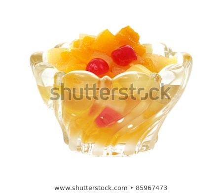 Can of mixed fruit in syrup Stock photo © bluering
