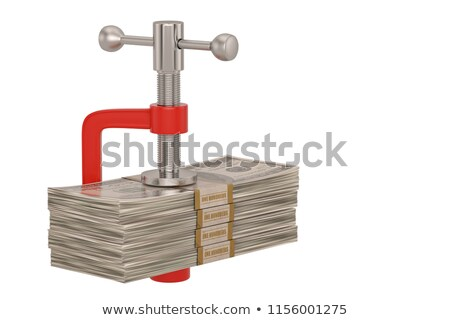 Stack of pound coins in clamp Stock photo © monkey_business