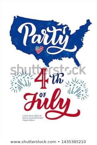 celebração · cartaz · modelo · de · design · fogos · de · artifício · fundo · verão - foto stock © articular