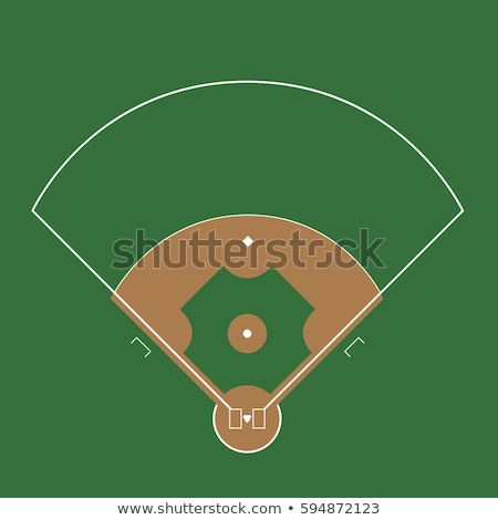 Baseball green field with white line markup vector Stock photo © Andrei_