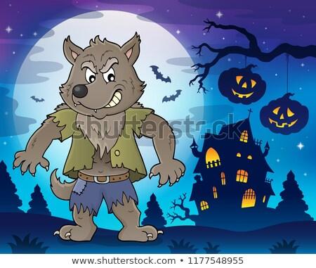 Хэллоуин · монстр · Cute · Scary · зеленый · улыбка - Сток-фото © clairev