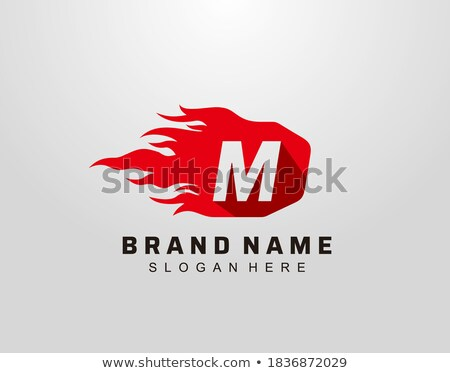 M Shaped Red Fire and Torch Vector Illustration Stock photo © cidepix