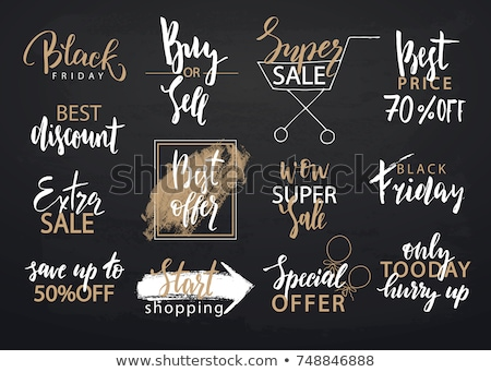 Black friday sale inscription invitation banner set Stock photo © MarySan