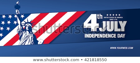 Independence Day 4 July Posters Statue of Liberty Stock photo © robuart