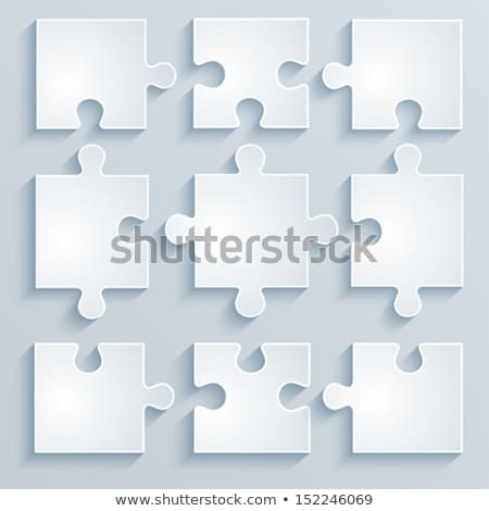 Vector background with joined jigsaw puzzle pieces Stock photo © blumer1979