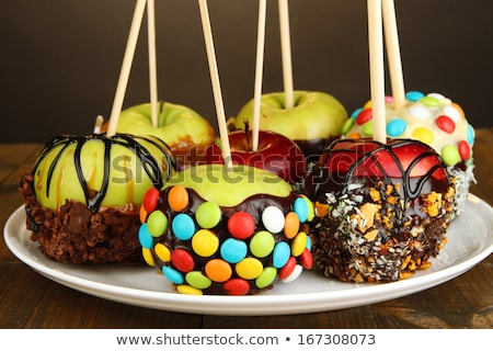 Glazed in chocolate apple for christmas Stock photo © neirfy