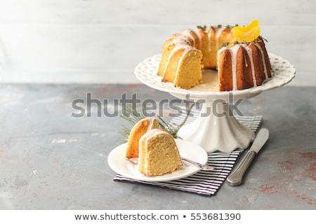 Sponge cakes in yogurt glaze Stock photo © Alex9500