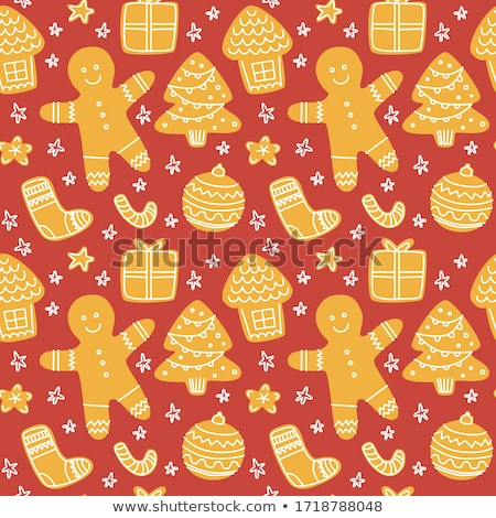 homemade christmas cookies vintage style stock photo © peteer