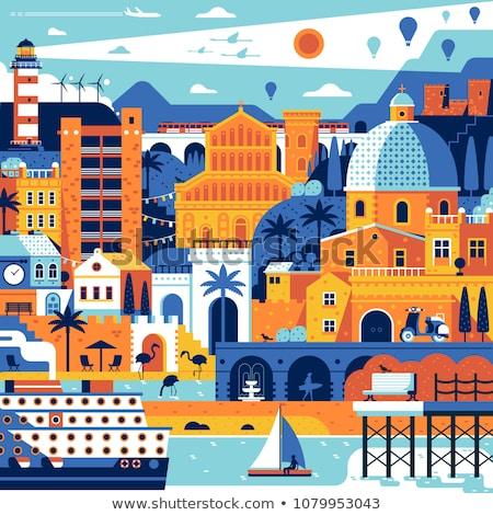 summertime poster seashore vector illustration stock photo © robuart