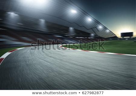 Une formule course stade illustration voiture fond Photo stock © colematt