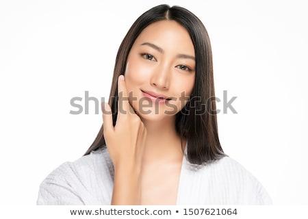 arrugado · piel · suave · mujer · piel · dama · aislado - foto stock © dolgachov