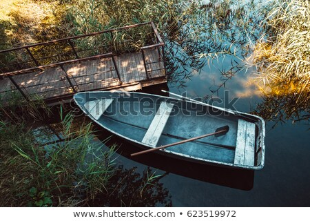 Background scene with wooden bridge to the lake Stock photo © colematt