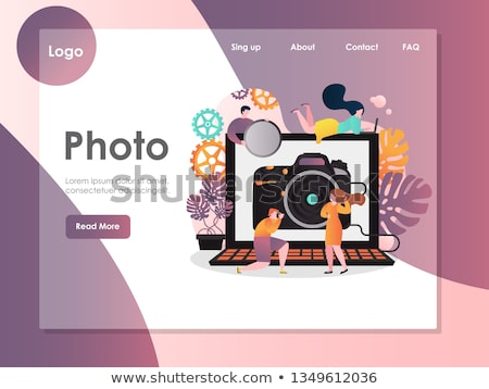 Modeling agency concept landing page. Stock photo © RAStudio