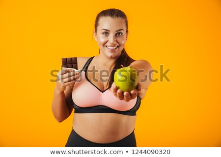 Imagen deportivo rechoncho mujer chándal Foto stock © deandrobot