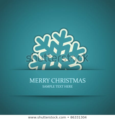 merry christmas cutout paper cut of winter images stock photo © robuart