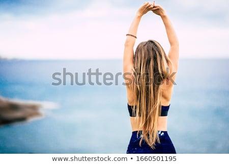 幸せ ブロンド 少女 完璧なボディ パーフェクト スリム ストックフォト © NeonShot