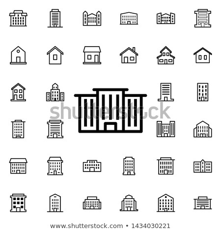 Business Office Line Web Glyph Icons Stock photo © Anna_leni