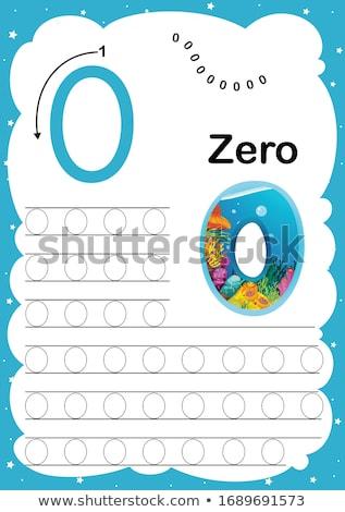 Numero pari a zero guidare illustrazione mano sfondo Foto d'archivio © colematt