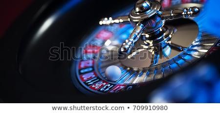 Rulet ikon düğme spor kumarhane siyah Stok fotoğraf © smoki