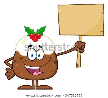 Feliz natal pudim madeira Foto stock © hittoon