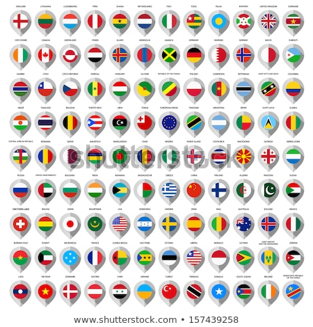 Peru map located on a world map with flag and map pointer or pin. Infographic map. Vector illustrati stock photo © kyryloff