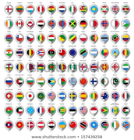 Peru harita dünya haritası bayrak pin Stok fotoğraf © kyryloff