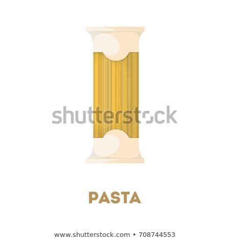 макароны пакеты икона цвета дизайна продовольствие Сток-фото © angelp
