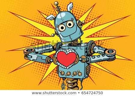 Humanoid Robot Red Heart Stock photo © limbi007