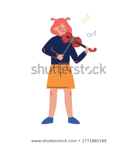 Student Teenager with Music Instrument Vector Stock photo © robuart
