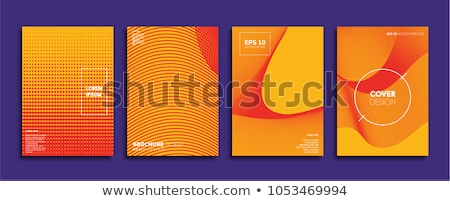 Fioletowy pomarańczowy półtonów wzór streszczenie tle Zdjęcia stock © SArts