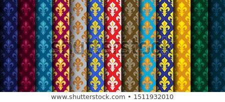 Kraliyet lilyum zengin renkli duvar kağıdı kumaş Stok fotoğraf © Glasaigh