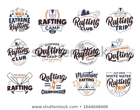 Couleur vintage rafting emblème eps 10 Photo stock © netkov1