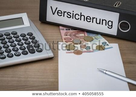 Calculator geld verzekering business pen financieren Stockfoto © Zerbor