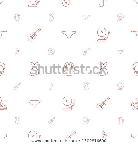Typu biała sukienka muzyki zestaw kobiet muzyka klasyczna Zdjęcia stock © toyotoyo