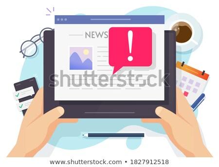 media censorship. man reading a newspaper Stock photo © studiostoks