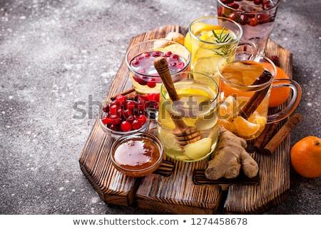 Assortment of winter healthy tea for immunity boosting Stock photo © furmanphoto