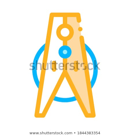 Laundry Service Clothes Peg Vector Thin Line Icon Stock photo © pikepicture