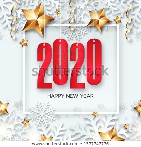 с Новым годом номера красный дизайна Сток-фото © ussr