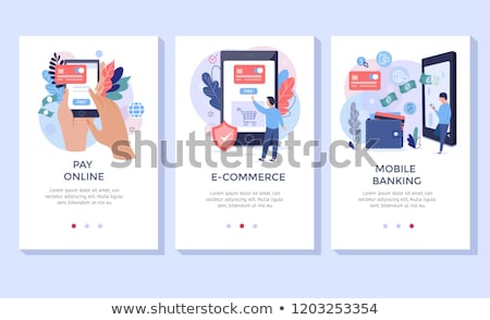 Hand paying in secure payment system Stock photo © ra2studio